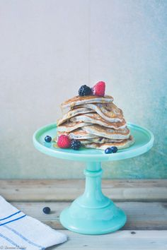 Greek Yogurt Pancakes with Red Berries Recipe