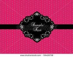 stock vector : pink vintage design