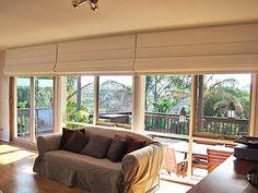 Roman blinds on sliding doors