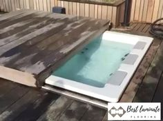Hot Tub Deck, Hot Tub Backyard, Small Backyard Pools, Swimming Pools Backyard, Swimming Pool Designs, Pool Landscaping, Small Pool Design, Jacuzzi Outdoor, Backyard Pool Designs