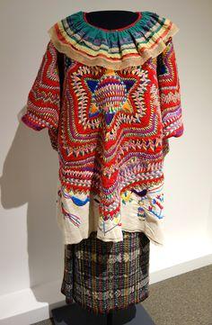 Vtg San Mateo Ixatatan Hand Embroidered Guatemalan Huipil Ethnic Tribal Dress