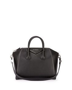 Antigona Medium Studded Satchel Bag, Black by Givenchy at Neiman Marcus.