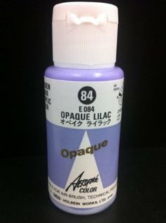 Aeroflash Color (Opaque Lilac E-84) 1 Bottle of 35ml From Holbein Japan by Holbein Works LTD Japan. $6.99