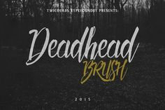 Deadhead Brush by Twicolabs Fontdation on @mywpthemes_xyz