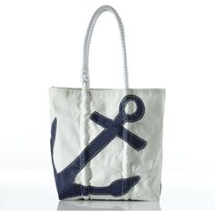 Navy Anchor Tote ❤ liked on Polyvore featuring bags, handbags, tote bags, sea bag, white tote bag, anchor tote, white tote, navy blue purse and long tote bag