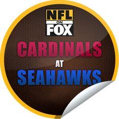 ORIGINALS BY ITALIA's NFL on Fox: Arizona Cardinals @ Seattle Seahawks Sticker   GetGlue