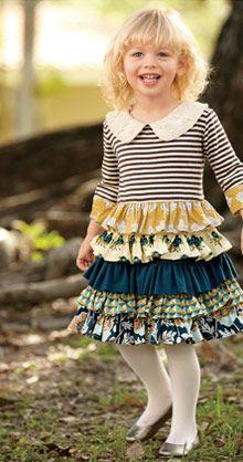 goldenrod ruffles dress