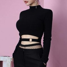 Punk+&+sexy+black+tight+top+with+O-ring. We+offer+FREE+and+USPS+shipping+for+USA+and+China+Post+for+any+other+country+in+the+world.+Customer+service+is+included+in+the+price+too!! Material:+cotton+blend; Color:+black Size:+one+size Length+42cm,+Bust+68cm,+Shoulder+35cm; (divide+by+2.54+...