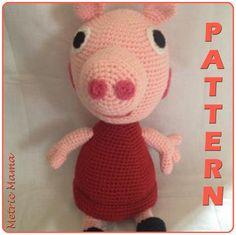 Ravelry: Peppa Pig pattern by Nicole Davis Embroidery Needles, Peppa Pig, Yarn Colors, Slip Stitch, Single Crochet, Plushies, Snuggles, Free Pattern, Knit Crochet