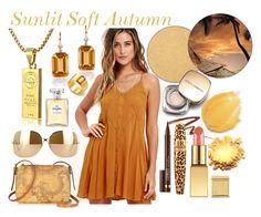 Sunlit Soft Autumn by prettyyourworld on Polyvore featuring beauty, AERIN, Anna Sui, Dolce&Gabbana, Clinique, Anastasia Beverly Hills, Chanel, Victoria Beckham, Goshwara and Gucci