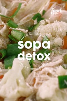 Sopa Detox Check out the Detox Soup recipe Week Detox Diet, Detox Diet Plan, Cleanse Diet, Stomach Cleanse, Healthy Cleanse, Caldos Low Carb, Sopas Low Carb, Detox Recipes, Healthy Recipes
