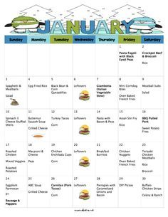 A Meal Plan To Save You Money On Groceries In The New Year! 31 Days of Dinners for $220 with FREE Printable Grocery List and Recipes   January 2016 Meal Plan - Mom's Bistro