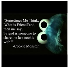 cookie monster, cookies, cute quotes, quotes, share