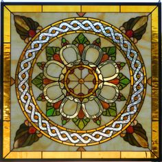 VICTORIAN STYLE WINDOW Panel by LegacyStainedGlass on Etsy, $289.99