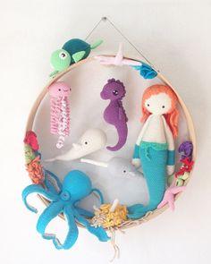 good morning  Günaydın #tbt#bebeklikedi #amigurumi #amigurumis #seacreatures #mermaid #seahorse #jellyfish #carettacaretta #narhwal #whale #coralreef #octopus #starfish #undersea#boneka #crochet #haken #häkeln #crochetaddict #crochetlove #amigurumiaddict #crochetersofinstagram #croché  #madebyme#babydoorhanger #babydecor #customdesing#wearth
