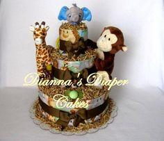 BABY SHOWER DIAPER CAKE IDEAS! :)