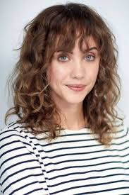 Image result for bangs wavy hair