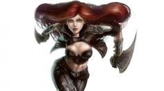 Katarina Charge League of Legends Girl Sword Picture HD Quanro 1920×1080
