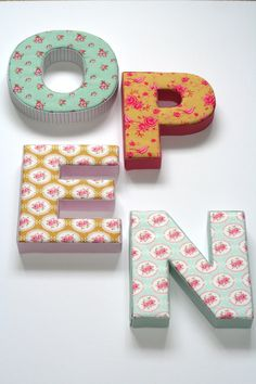 My 3D letters