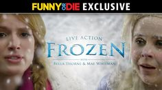 A Behind-the-Scenes Look at a Live-Action Version of 'Frozen' Starring Bella Thorne and a Very Cold Mae Whitman