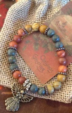 CHRisTMaS ANGeL GeMSToNe women's bracelet/ teen girl by Ivanwerks