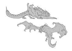 Monster Concept Art, Fantasy Monster, Monster Art, Creature Concept Art, Creature Design, Mythical Creatures Art, Fantasy Creatures, Dragon Base, Dragon Anatomy