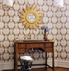 Cheetah wallpaper in Tan from Jubilee by Thibaut. Available at the DD Building suite 615 #ddbny #thibaut