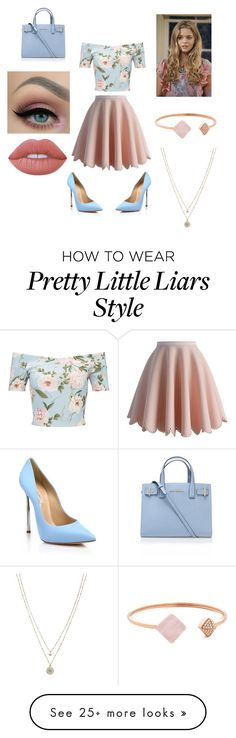 """""""Alison pretty little liars look"""" by therosebuds on Polyvore featuring Chicwish, Miss Selfridge, Casadei, Michael Kors, LC Lauren Conrad, Lime Crime and Kurt Geiger"""