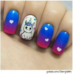 Unicorn Love | Cutest Animal Nail Art Designs You'll Fall In Love With