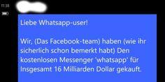"""Dieser WhatsApp-Kettenbrief macht wieder die Runde- Von besorgten Whatsapp-Nutzern wurden wir auf eine Nachricht aufmerksam gemacht, die derzeit häufig von vielen Whatsapp-Nutzern geteilt wird. Die Nachricht beginnt mit den Worten: """" DIESMAL KEIN FAKE STEHT AUCH IN FACEBOOK DRIN!!!!!""""  In der folgenden Nachricht droht """"Das Facebook-Team"""", dass die Nutzung von Whatsapp kostenpflichtig werde, wenn die Nachricht nicht mit mindestens zehn Kontakten geteilt werde. Konkret wird mit folgenden, in…"""