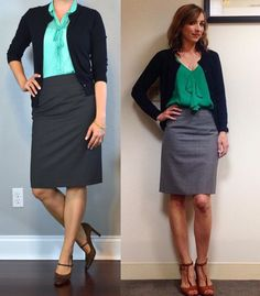 outfit post: mint tie-neck blouse, grey pencil skirt, navy cardigan, brown mary janes http://outfitposts.com/2016/03/outfit-post-mint-tie-neck-blouse-grey.html?utm_campaign=coschedule&utm_source=pinterest&utm_medium=Outfit%20Posts&utm_content=outfit%20post%3A%20mint%20tie-neck%20blouse%2C%20grey%20pencil%20skirt%2C%20navy%20cardigan%2C%20brown%20mary%20janes