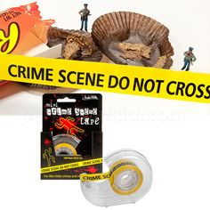 MINI CRIME SCENE TAPE $4.99  perfect for detective/mystery party