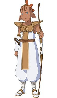Prince Aikka (アイカ王子 Aika ōji) is the prince of Nourasia. He races on the back of a giant flying beetle named G'dar, which acts as his vehicle. Noble, chivalrous and skilled in martial arts, he is a rival of Molly's, but also a close friend — since Molly finds him cute and the attraction seems to be mutual.
