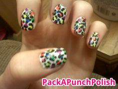 Pack A Punch Polish • Rainbow cheetah.