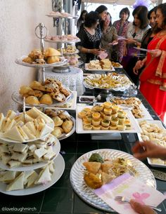 Sharing food with family and friends...does life get any better? Host a 'high tea' today...