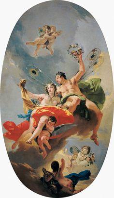 Giovanni Battista Tiepolo - G.B.Tiepolo / Zephyr and Flora / Paint.