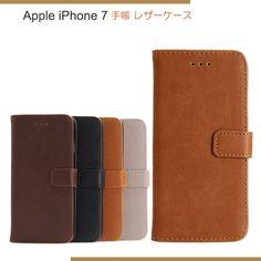 iPhone7 ケース 手帳型 レザー ベーシックなデザイン シンプル アイフォン7 手帳型レザーカバー IP7-CH - IT問屋直営本店