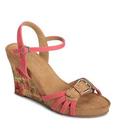 This Coral Plush Around Wedge Sandal is perfect! #zulilyfinds