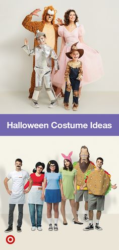 Find matching Halloween costume & makeup ideas for your crew—families, BFFs, couples & groups! Find matching Halloween costume & makeup ideas for your crew—families, BFFs, couples & groups! Matching Halloween Costumes, Family Halloween Costumes, Cute Costumes, Couple Halloween, Halloween Dress, Halloween Outfits, Halloween Makeup, Costume Ideas, Halloween Kleidung
