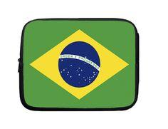 Laptop Sleeve, Laptop Case, Laptop Bag Flag of Brazil