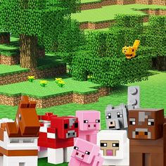 The LEGO Minecraft world is home to cute animals. You can follow their adventures here on Instagram #brickpet #whereisocelot #LEGOMinecraft #Minecraft