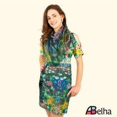 Vestido As Férias de Monet - ABelha Atelier