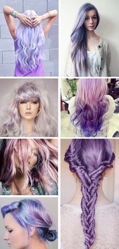 lilac hair - wish I had the guts to color my hair like this, beautiful! Added bonus, greys wouldn't be as noticeable so quickly...