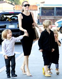 "Angelina Jolie: Taking My Kids to the Bathroom Keeps Me ""Grounded"""