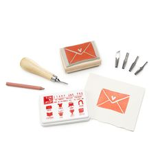 CARVE-A-STAMP KIT | Carving Tools, DIY Rubber Stamps | UncommonGoods