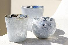 Mercury glass tea light holders Glass Tea Light Holders, Candle Holders, Mercury Glass, Candelabra, Tea Lights, Candles, Lighting, Light Fixtures, Tea Light Candles
