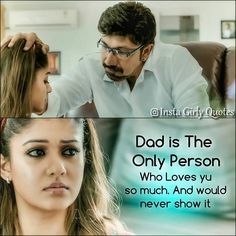 """2,239 Likes, 11 Comments - Insta Girly Quotes (@insta_girly_quotes) on Instagram: """"#nayanthara #rajarani #dadsprincess #dadslove #fathersday #fatherslove #daddy #likeforlike…"""""""
