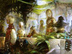 Art of Akihiko Yoshida - Final Fantasy XIV game concept art - Square-Enix Final Fantasy Xiv, Final Fantasy Artwork, Fantasy Concept Art, Game Concept Art, Art Journal Fondos, Art Journal Backgrounds, Multimedia Artist, Fantasy Illustration, Fantasy Landscape