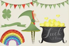 Check out St Patricks Day Clipart Vector Pack by Purveyor of Geekery on Creative Market