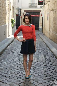 22. #Demure but Dynamic - 39 Fabulous #French Street #Style Looks ... → #Streetstyle #Fabulous